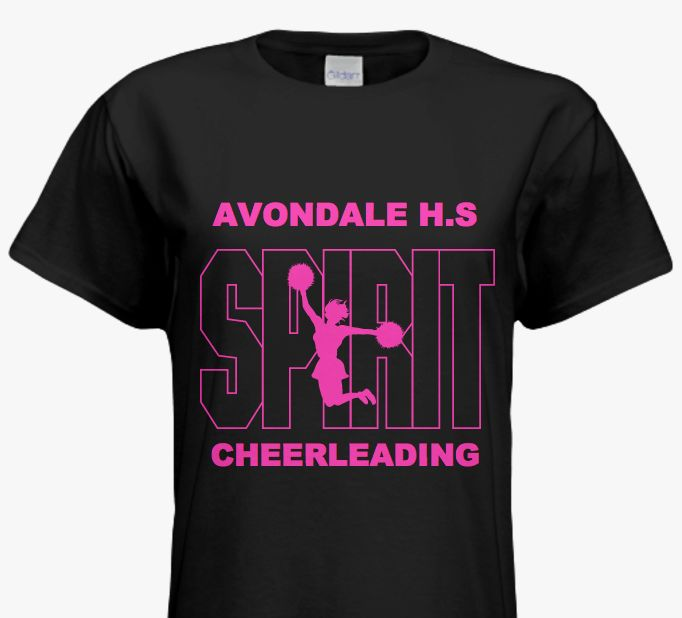 Stand Out Designs Shirts : Vibrant cheer team tees perfect to stand out at