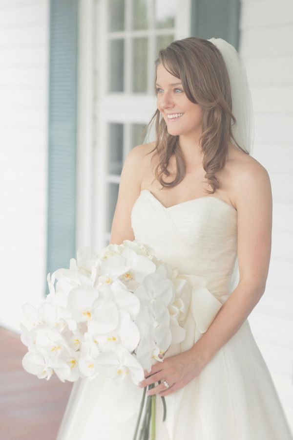 White Orchid Bridal Bouquet | photography by http://www.elisabethmillay.com/