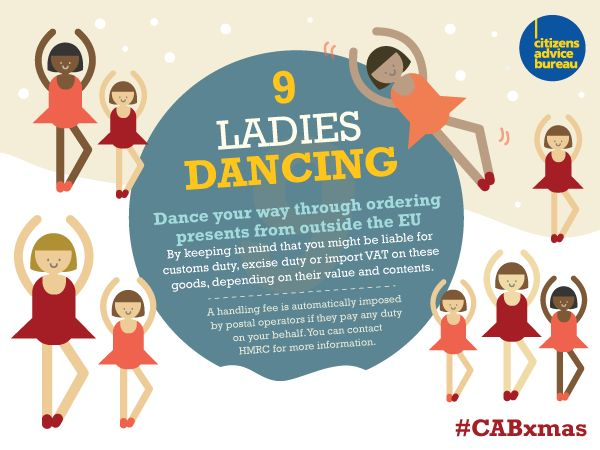 Dance your way through ordering presents from outside the EU #CABxmas
