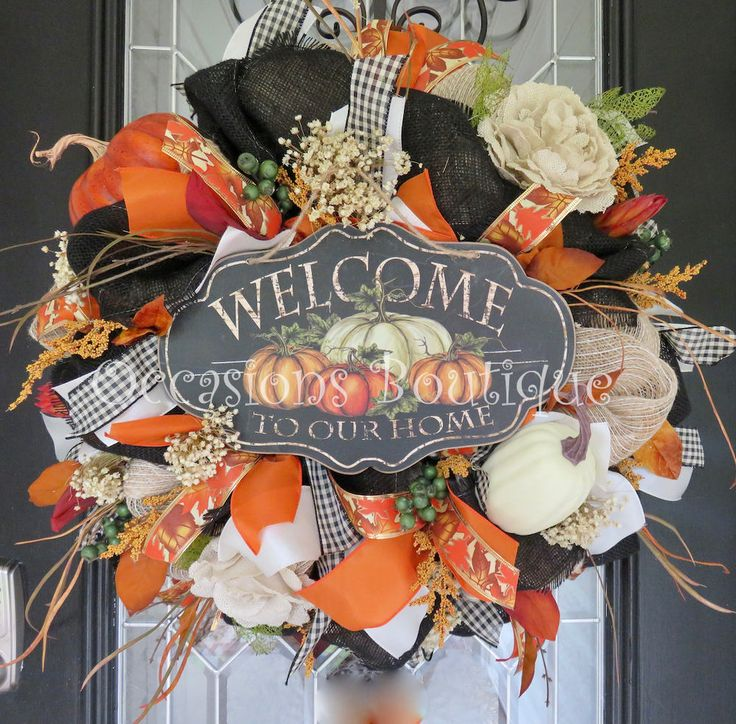 Fall Wreath, Burlap Wreath, Autumn Wreath, Wreath for Fall, Floral Wreath, Door Hanger, Fall Decoration, Ready to Ship by OccasionsBoutique on Etsy