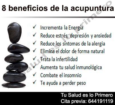 Beneficios de la #acupuntura.