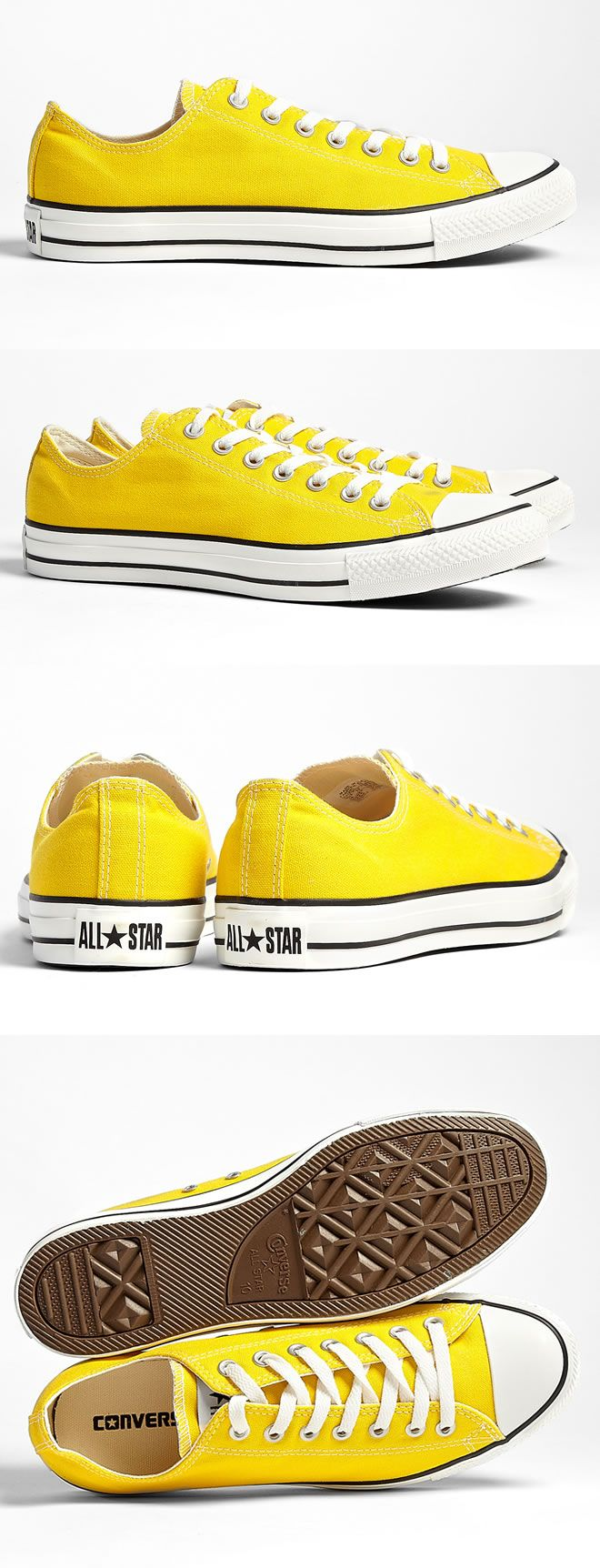Converse Yellow Canvas Chuck Taylor Plimsolls. Way better than any heal for the big day!!!