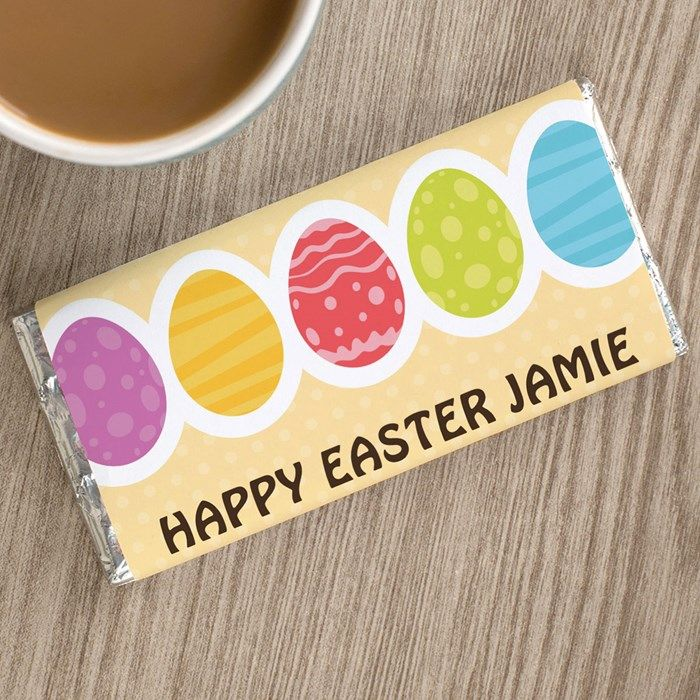Personalised Chocolate Bar - Multicoloured Easter Eggs | Chocolate By GettingPersonal.co.uk
