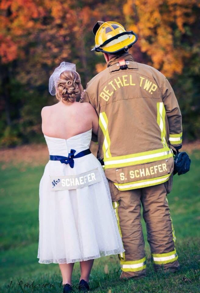 Firefighter Wedding My Dream Came True And Very Own Fire Name Plate