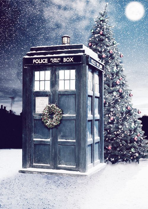 Happy Christmas from The Doctor  I think I need to frame this and hang it with my Christmas decor every year.