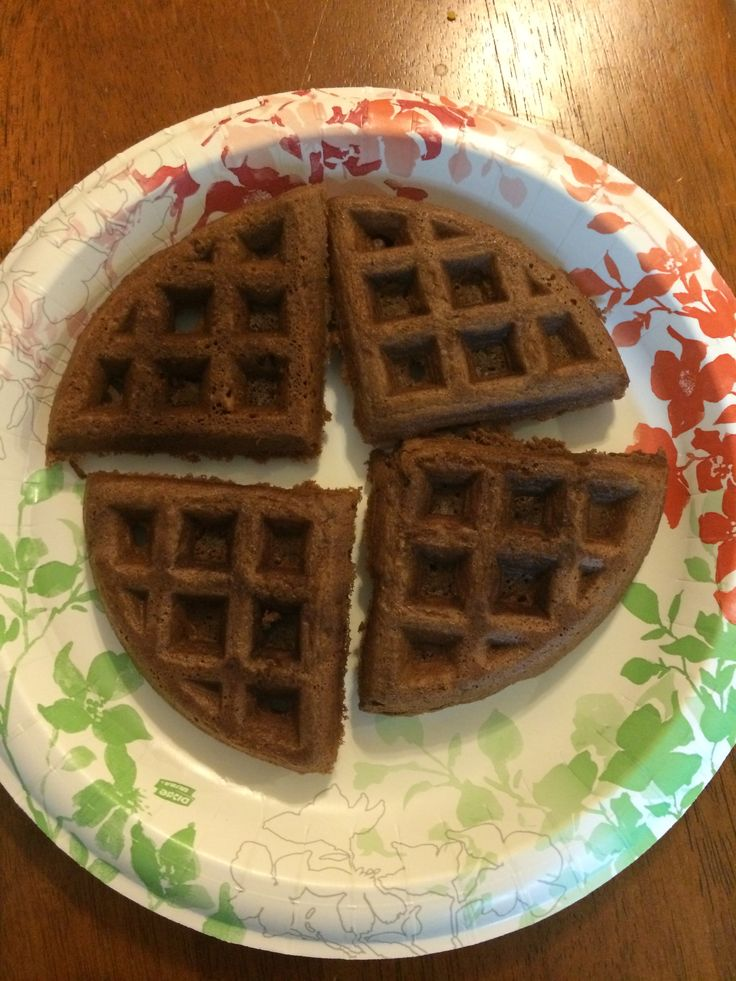 Chocolate ice cream, Waffles and The top on Pinterest