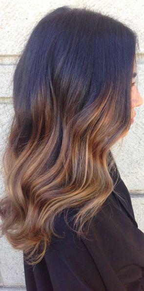 Soft #brunette #ombre by #901artist Marissa Marino