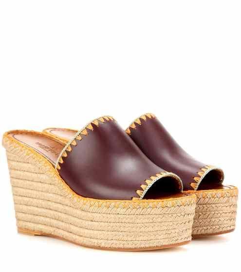 Espadrille-Sandalen aus Leder | Valentino