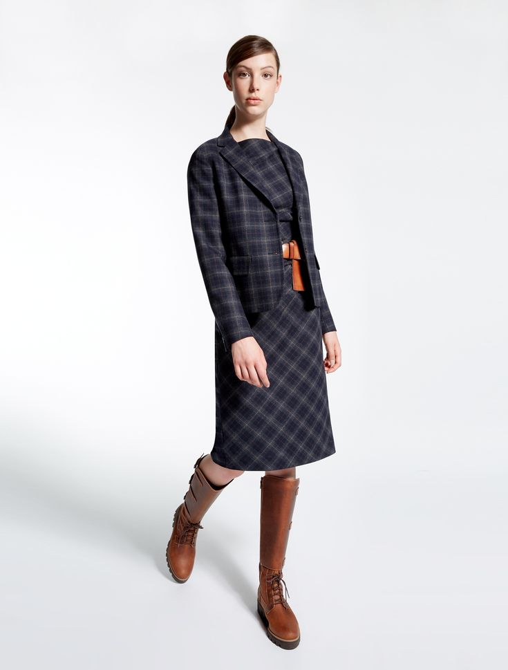 Wool flannel dress, ultramarine - Weekend Max Mara Product page