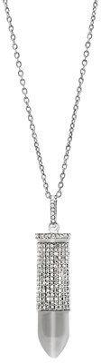 ADORNIA Champagne Diamond And Sterling Silver Bullett Necklace Champagne Diamond.