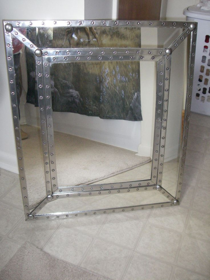 :D SOUTHWESTERN MIRROR w/STAMPED FRAME - 25.5 x 30 #Unbranded #Southwestern
