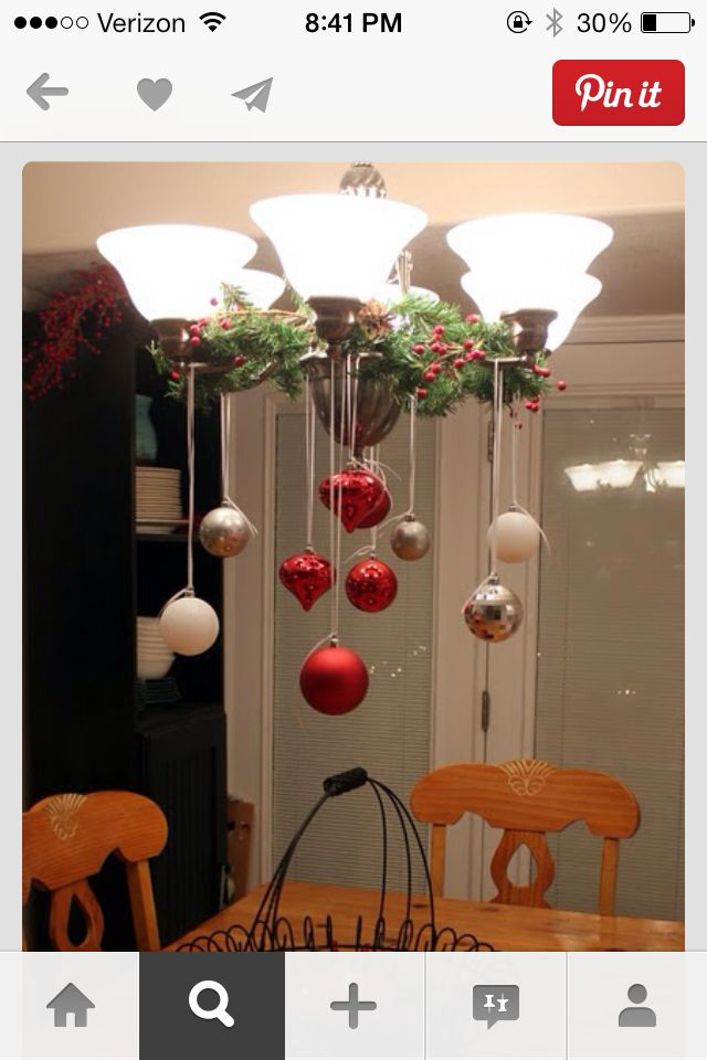Christmas Decorations | #DIY Light Fixture  #Ornaments #ChristmasDecor