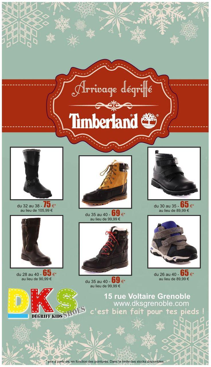 Arrivage Chaussures enfant Timberland Fille et Garçon du 26 au 40 - à prix dégriffés. DKS Degriff Kids Shoes #chaussures dégriffées pour #enfant à #Grenoble.