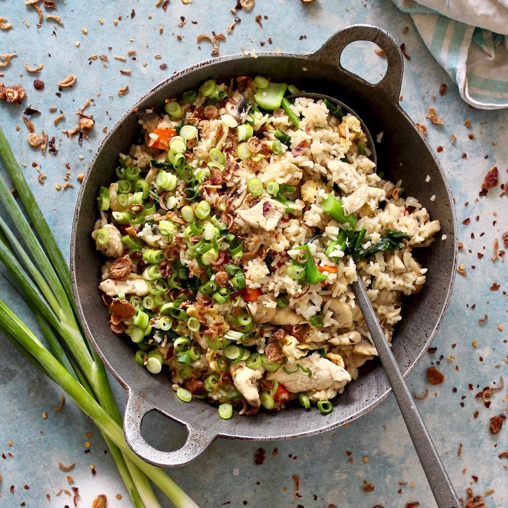 THE BEST EVER CHICKEN FRIED RICE. Recreate this Chinese restaurant favourite using the very best free range chicken and eggs. Combined with fragrant jasmine rice, seasonal Chinese broccoli, mushrooms, carrot, spring onions and crispy fried eschalots to finish. It's quicker to make than waiting for a take away and healthier! 30 Minutes. Free Range. Sugar Free. Dairy Free.