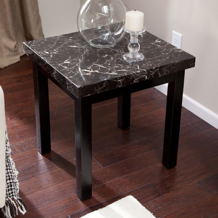 Galassia Faux Marble End Table - The Galassia End Table adds a dash of style to…