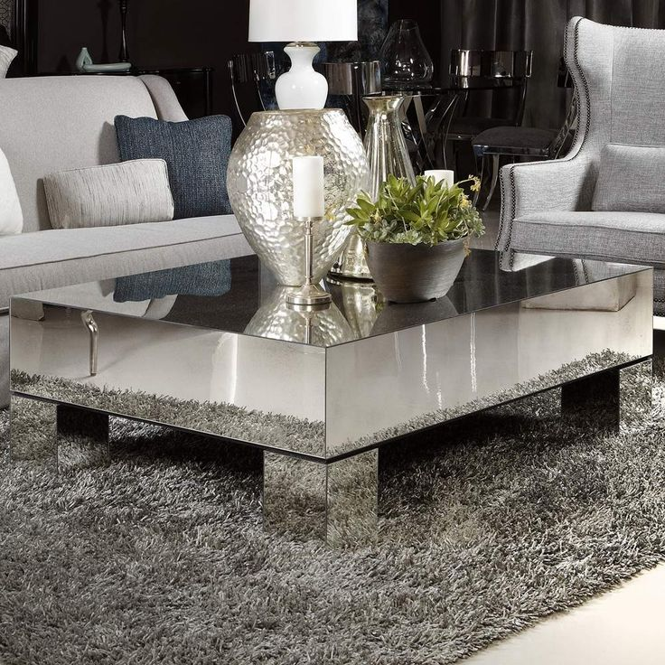 Estelle Mirrored Coffee Table From Bernhardt Coffeetable Mirror Pieces Tabled