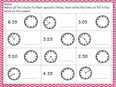 49 best Time Resources images on Pinterest Telling time, The hours