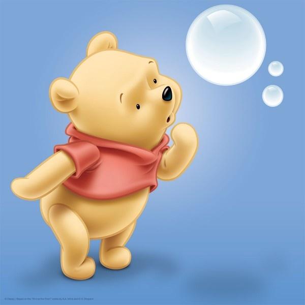 Quadretto Cameretta Bambini Canvas Disney Winnie the Pooh.  Dolcissimo!