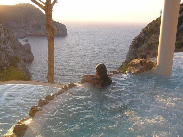 Outdoor Spa, Hacienda Na Xamena, Ibiza Desperate to go here when we get married