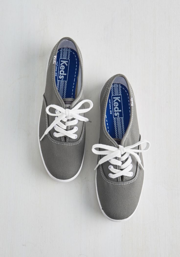 Very Important Skate Sneaker in Grey. Being late isnt an option when youre this pumped to kick and push in these grey Keds. #grey #modcloth
