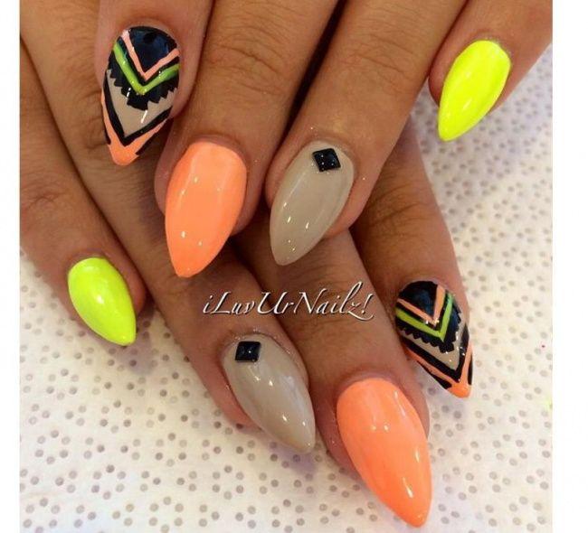 Azteckie wzorki na paznokcie - odświeżamy trend na lato - Strona 8
