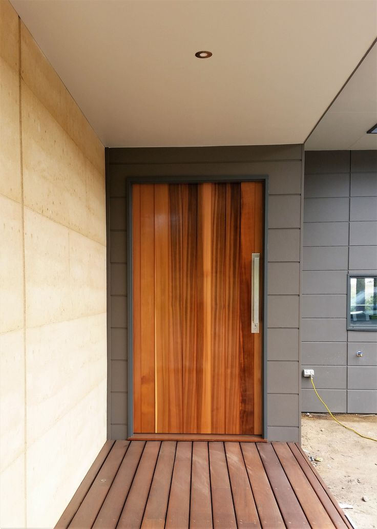 A stunning solid hardwood door will have guests in awe.  Naturally beautiful.