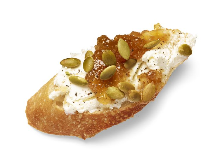 Fig, Pepita and Goat Cheese Crostini recipe from Katie Lee via Food ...