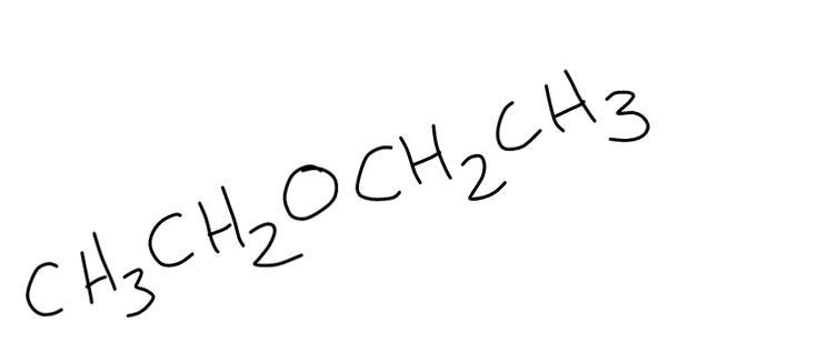 Ethers - Ethoxyethane or diethyl ether