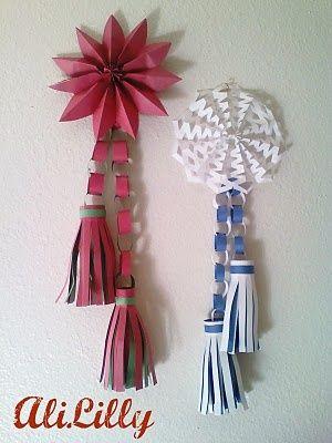 diy paper christmas decorations from martha stewart. Black Bedroom Furniture Sets. Home Design Ideas