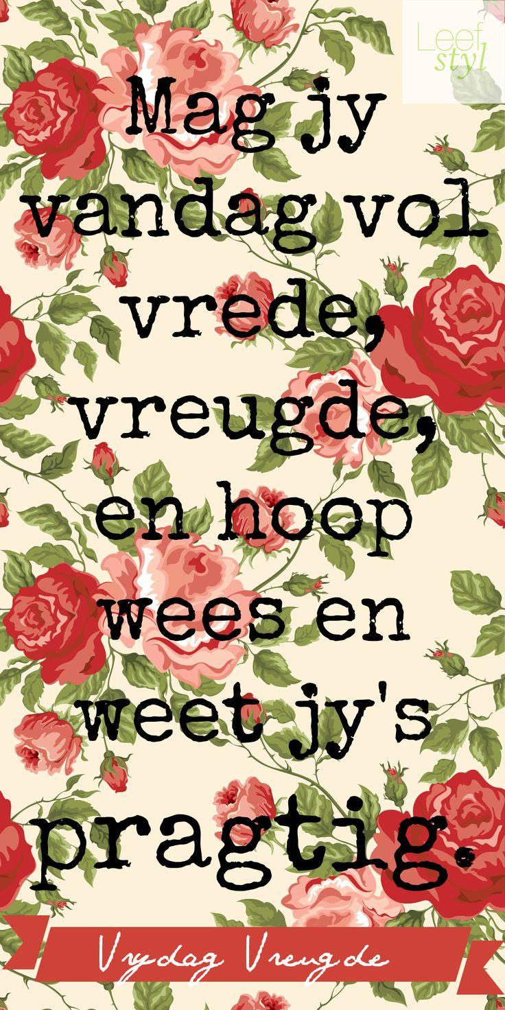 Vrydag #Vreugde
