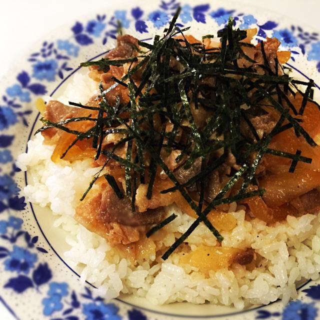 4月2日夕食メニュー ⚫︎豚丼 ⚫︎かき玉うどん - 10件のもぐもぐ - 豚丼 by willpower1945