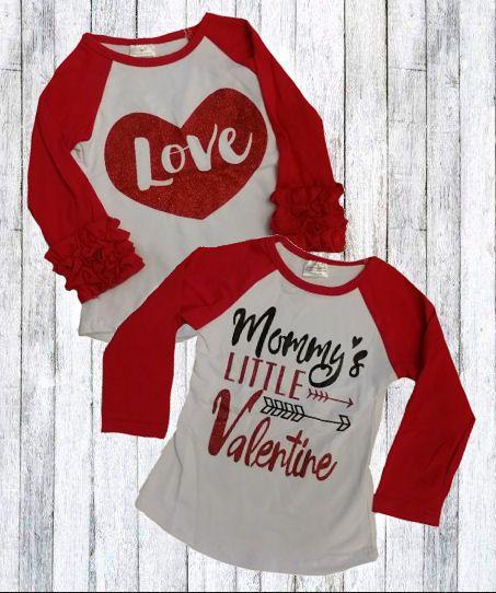 Love Mommy's Little Valentine | Raglan Tops | You Choose