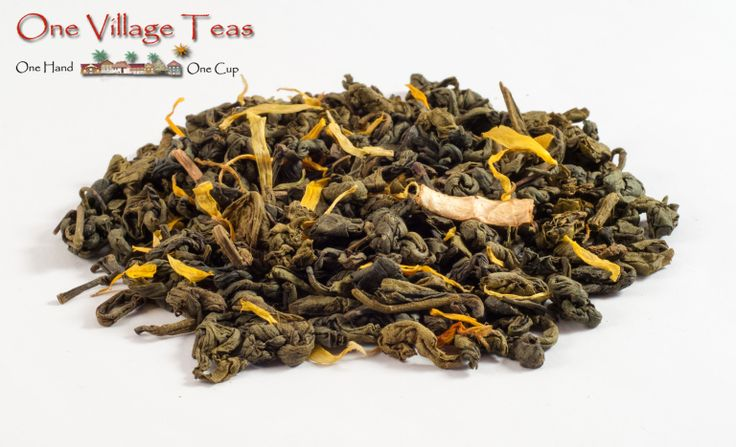 Lemon Green Green Tea  A combination of brisk pekoe gunpowder green tea with the tartness of lemon makes for a pleasant experience, both sweet and tart. Enjoy served hot or as an iced tea.  www.onevillageteas.com