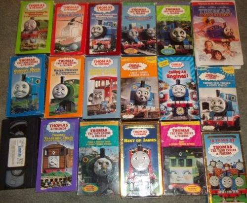 Details About Thomas The Tank Engine Vhs Lot 18 James