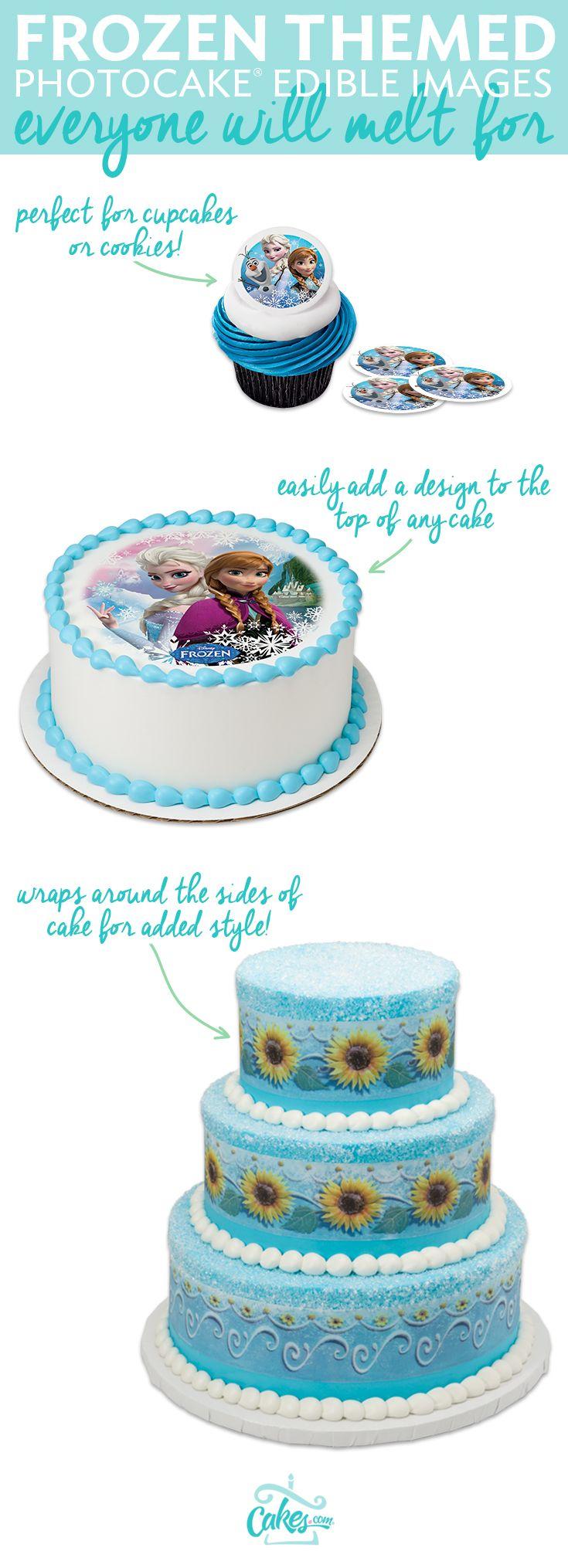 Creating a fun Frozen cake for your little princess has never been easier than when using a PhotoCake® Edible Cake Image.