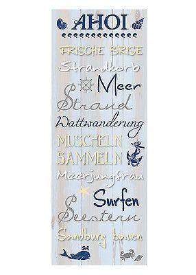 Wandschild Dekoschild Maritim AHOI Schild Sprüche Vintage Shabby Chic in Möbel & Wohnen, Dekoration, Schilder & Tafeln – anja nissen