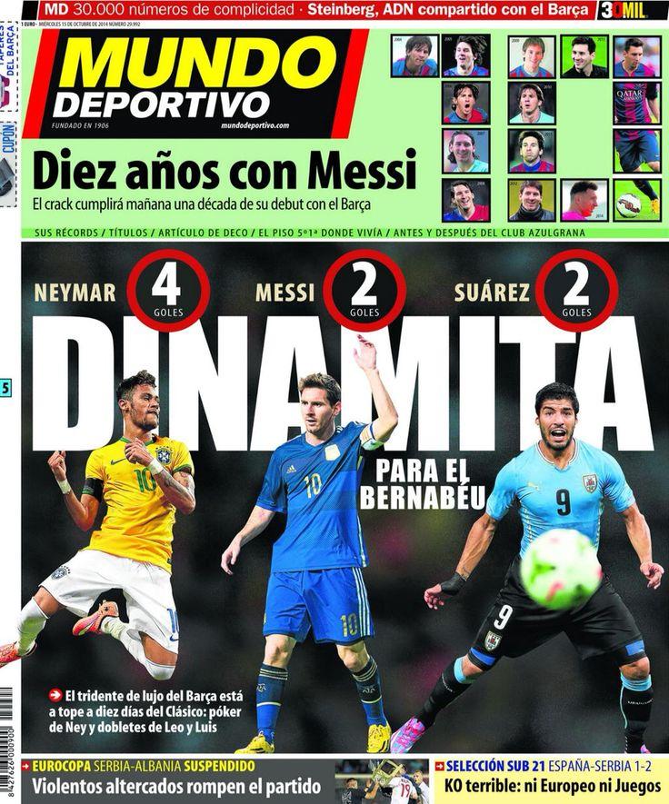Portada MD 15/10/2014 #FCBarcelona #Barça #Barcelona #FCB #fcblive #SomUnEquip #ViscaBarça #SomosBarça #Culè #igersFCB #CanBarça #Catalunya