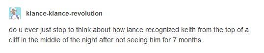 Suspicious af Lance wtf