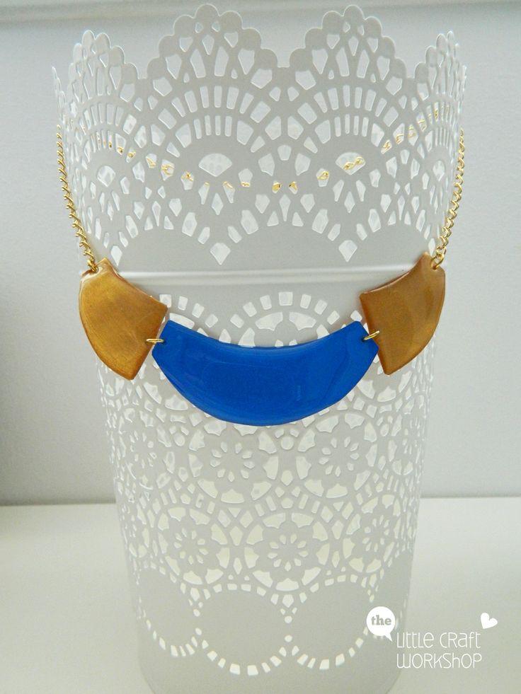 Handmade necklace - liquid glass