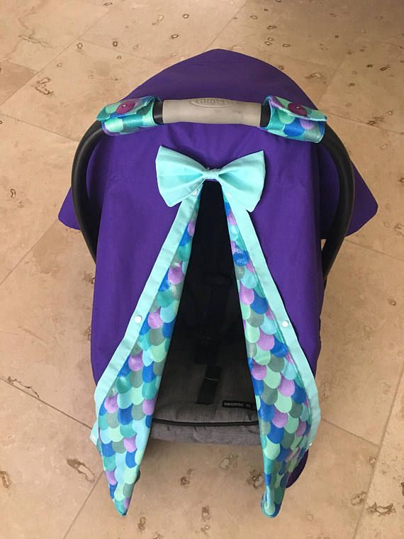 Minky mermaid scale car seat canopy carseat cover mermaids