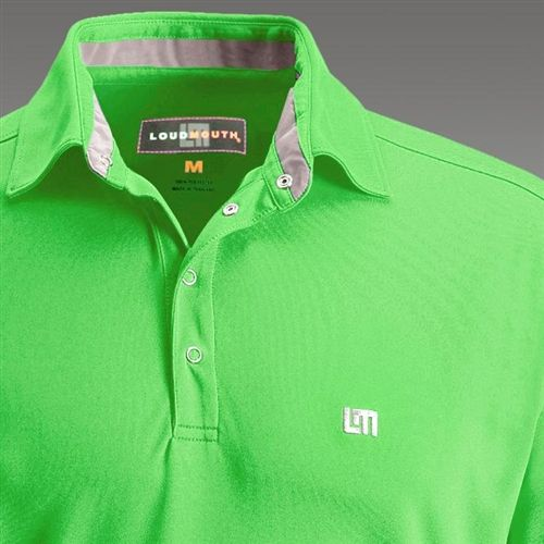 Mens Golfing Shirts Polos By Loudmouth Golf Jewel Lime