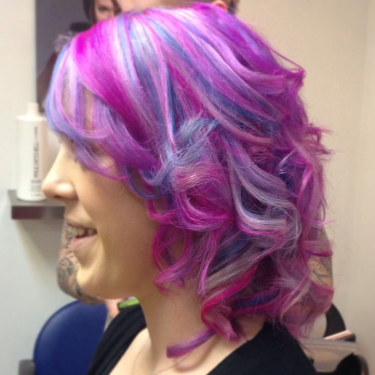 Pink Purple Blue Hair  Hair  Pinterest  Blue Hair Purple And Pink