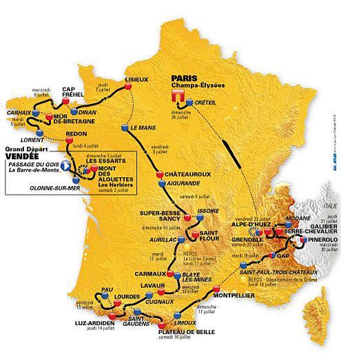 Tour de France 2009, 3 stages including Mt.Ventoux and Champs Elysees