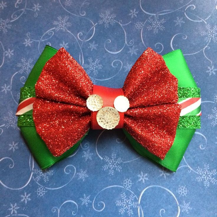 Mickey Christmas Bow / Small World Bows