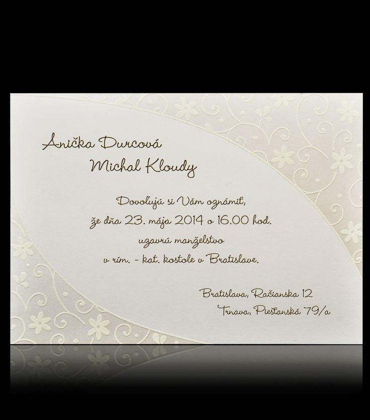 Jednoduché svadobné oznámenia.