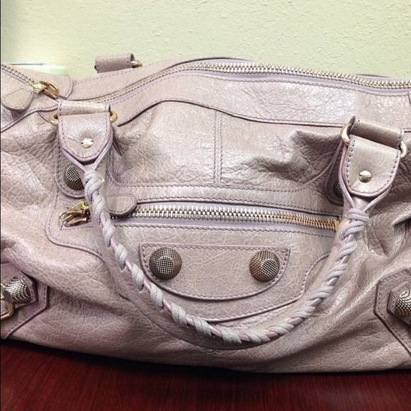 Balenciaga Work bag [ Finally organizing my closet! All items are 100% authentic and purchased by me. ] Gorgeous dusty pink with rose gold hardware Balenciaga Work bag. Purchased about 2 years ago and used as a diaper bag so it's still in very good condition! Balenciaga Bags