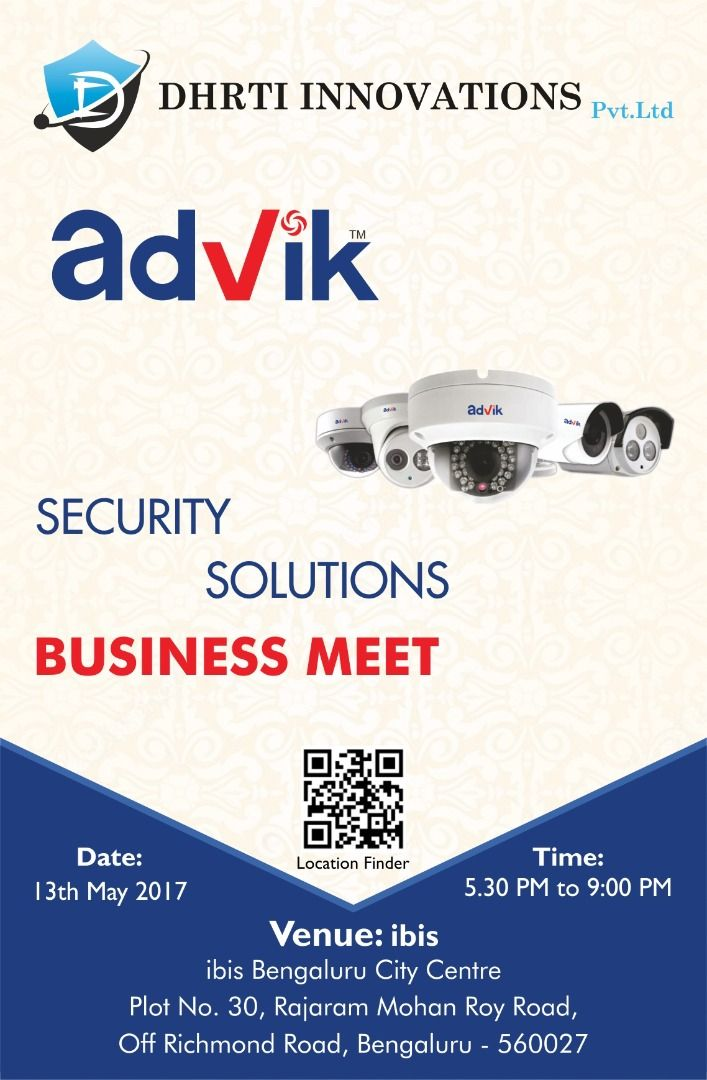 Advik #securitysolutions business meet !!! Another successful #security and business meet! We would like to thank all our partners and staff for the dynamic and interactive participation in our business meet on 13th May 2017 at..... Read more at: http://bit.ly/2shchU8