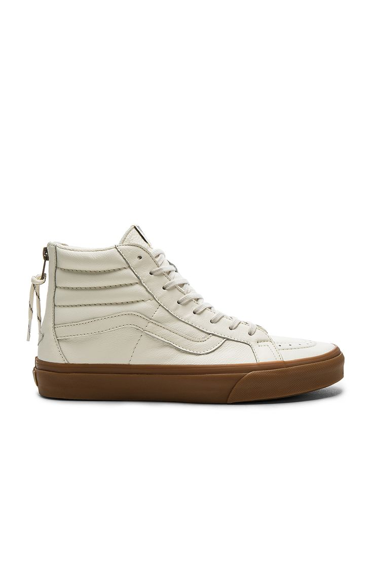 Vans SK8 Hi Reissue Zip in White & Gum