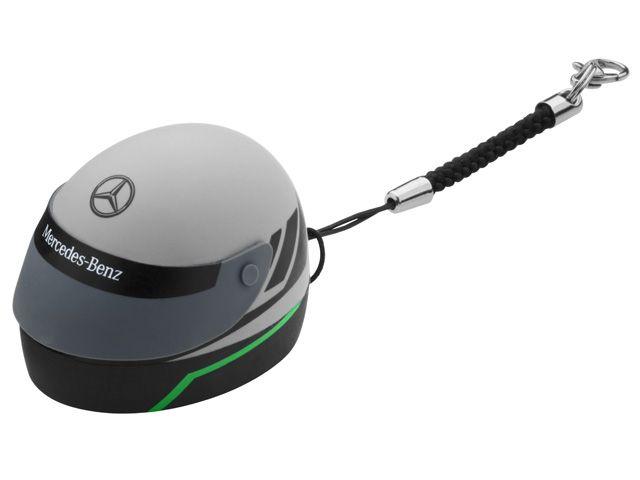 Part number:     B67995139  Motorsport helmet USB stick. Silver/black/Petronas green.  100% PVC. 8GB. USB 2.0. Star logo print.  Mercedes-Benz lettering printed on visor.  Mercedes-Benz Motorsport lettering printed on USB stick.