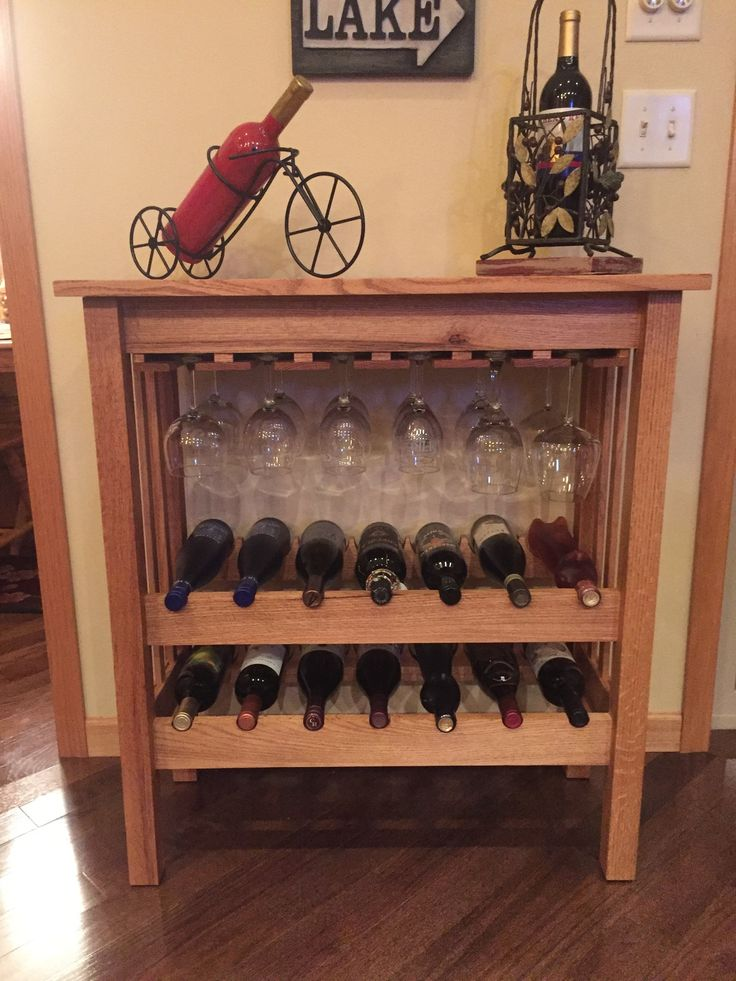 Russ d built this wine rack using plans from woodworker 39 s Wine rack designs wood